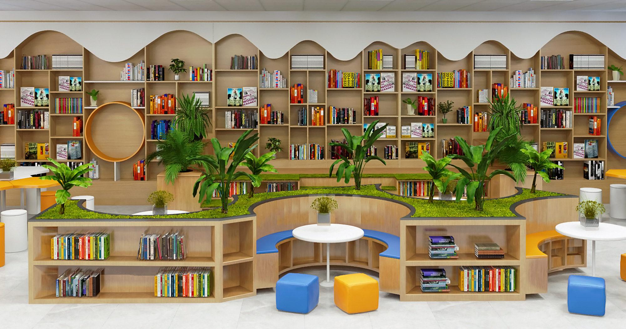 Thiết kế thư viện với nhiều không gian xanh